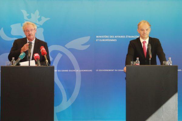 Jean Asselborn, ministre des Affaires étrangères et européennes, et Michel Reckinger, Président de l'UEL